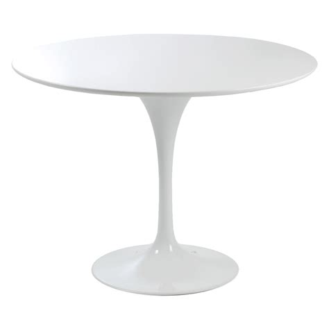 White Pedestal Kitchen Table Style Astrid High Gloss White Dining Table Dining Tables At Hayneedle