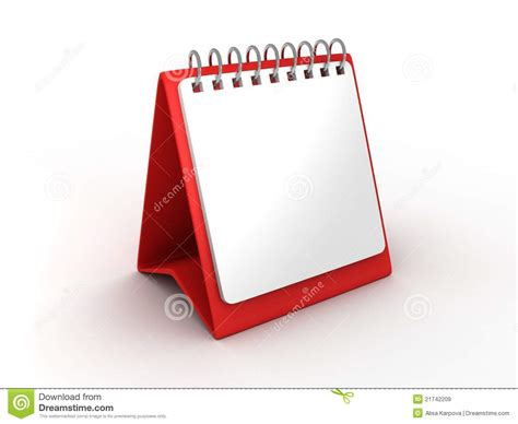 Blank Paper Desk Calendar For Office Stock Illustration Office Desk Calendar
