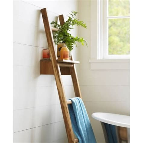 Ladderbathroomshelving Ladder Bathroom Storage