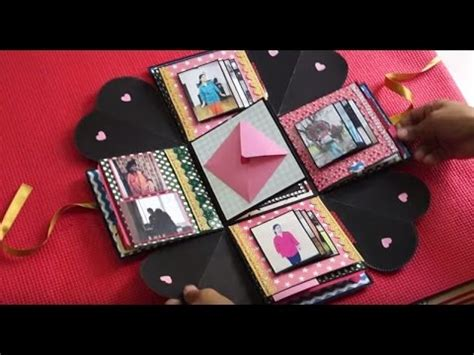 explosion box tutorial for girlfriend cute explosion box the sucrafts youtube