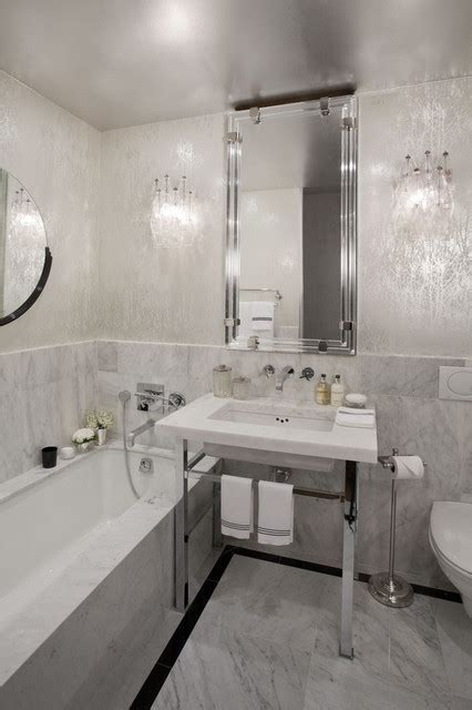 Modern Bathroom Wallpaper Unique Wallpaper Ideas Apartment New York 5 Jpg