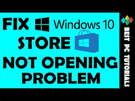 fix store app is not opening in windows 10 fix windows 10 store not opening problem cp fun