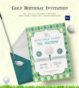 Golf Template Free by 25 Fabulous Golf Invitation Templates Designs Free