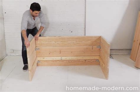 how to build a wooden couch homemade modern ep66 box sofa
