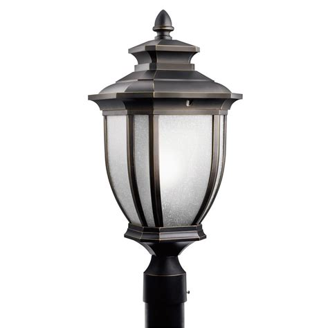 Kichler Post Lights Kichler Post Light In Rubbed Bronze Finish 9938rz Destination Lighting