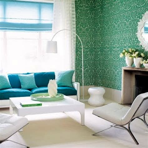 green wallpaper room color schemes aqua and green eclectic living home