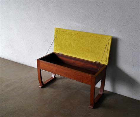 yellow bench second charm some vintage midcentury furniture latest