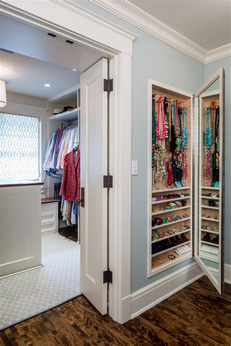 length mirror with jewelry storage closet traditional