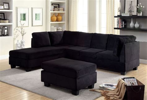 black contemporary couch furniture of america cm6316 cm6316 ot lomma contemporary