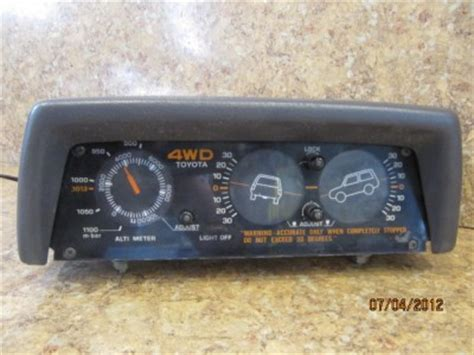 Toyota 4runner Inclinometer 84 88 Toyota Truck 84 89 4runner Tiltometer Inclinometer