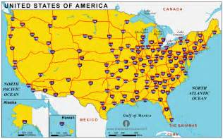 Highway Road Map Of United States by Free Usa Interstate Highways Map Interstate Highways Map