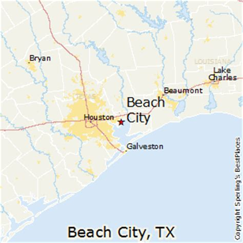 texas beaches map best places to live in city texas