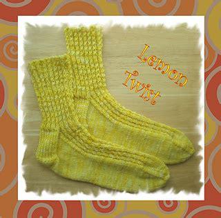 lemon pattern socks ravelry lemon twist socks pattern by lisa vienneau