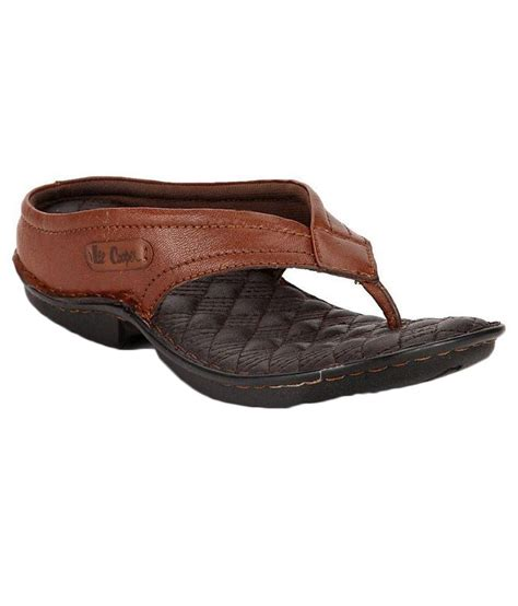 leecooper slippers cooper brown slippers lc1964tan snapdeal price