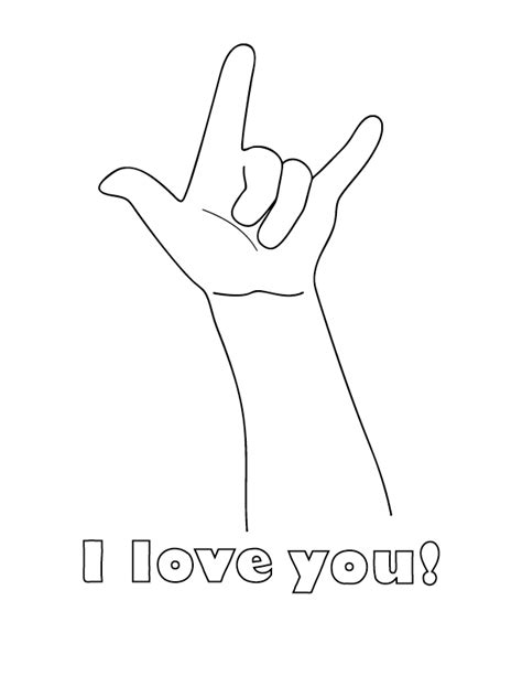 I Love You Coloring Pages For Kids Boys And Girls I You And Coloring Pages