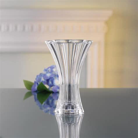 Decorative Crystals For Vases by Nachtmann Saphir 8 In Decorative Vase In Clear