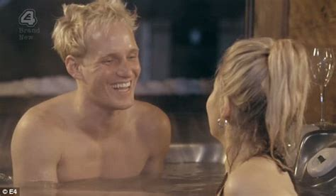 bathtub naked mic s jamie laing gets cosy with new girl phoebe on ski