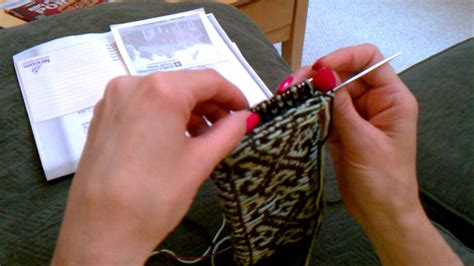 how to knit colorwork colorwork knitting inside out for socks