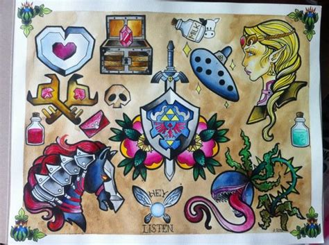 tattoo flash game online zelda in love and tattoos and body art on pinterest