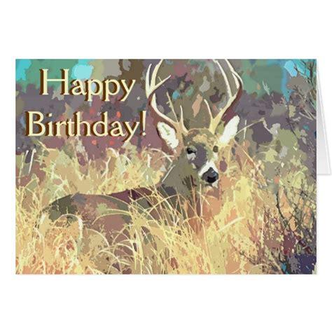 printable birthday card hunting beautiful deer birthday card zazzle