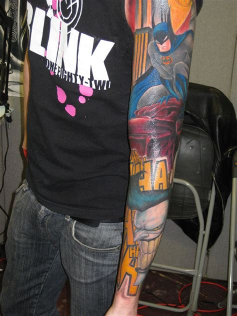 batman comic tattoo sleeve tatuagem nerd batman