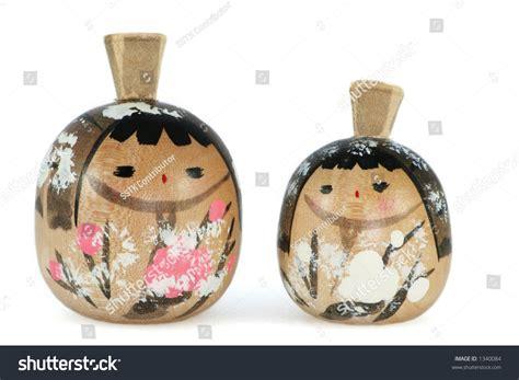 japanese ornament two little japanese ornament dolls stock photo 1340084