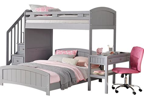 Grey Bunk Beds Cottage Colors Gray Step Loft With Desk Bunk Loft Beds Colors