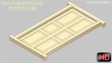 design frame inventor door panel with frame modified design autodesk inventor