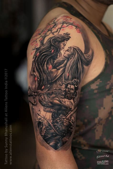 lord shiva tattoos design lord shiva parvati lord