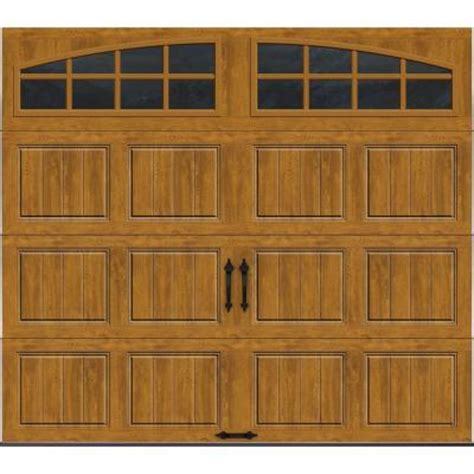 Home Depot Garage Doors by Clopay Gallery Collection 8 Ft X 7 Ft 18 4 R Value Intellicore Insulated Ultra Grain Medium