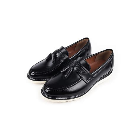 chic loafers s chic black synthetic leather light weight tassel loafers