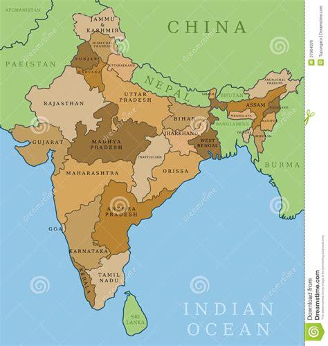 indische liegest tze indien staaten lizenzfreie stockbilder bild 27964029