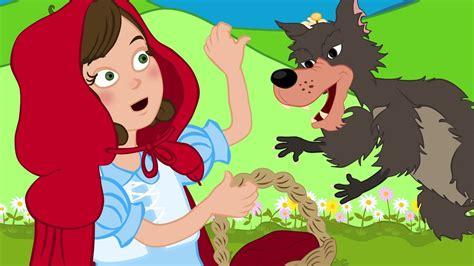 caperucita roja dibujos animados en caperucita roja cuento y canciones cuentos infantiles en