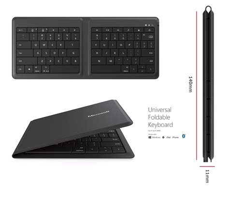 iphone keyboard microsoft universal foldable bluetooth keyboard for iphone android windows 885370902457 ebay
