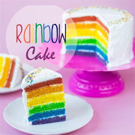 kuchen bunt vegan rainbow cake veganer regenbogen kuchen cake