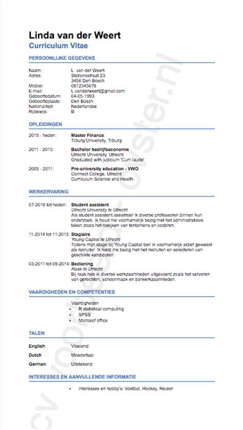 Cv Voorbeeld Student Afbeeldingen Cv Voorbeeld Student cv jobstudent voorbeeld cv voorbeeld 2018