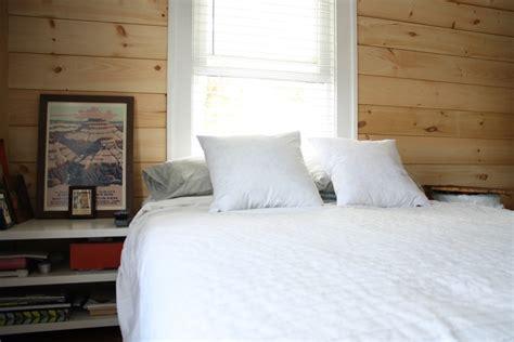 diy shiplap paneling as a custom bedroom headboard merrypad