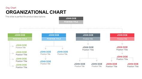 template for org chart organisational chart powerpoint and keynote template