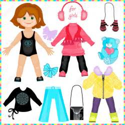 paper doll cut out clipart 90