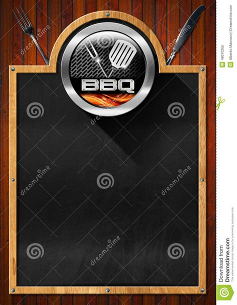 Blackboard For Barbecue Menu Stock Illustration Illustration Of Grill Kitchen 48070265 Bbq Menu Template Free