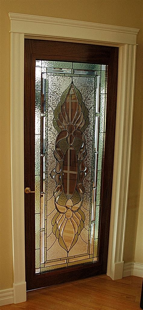 Stained Glass Interior Doors Wooden Door Design Home Designer