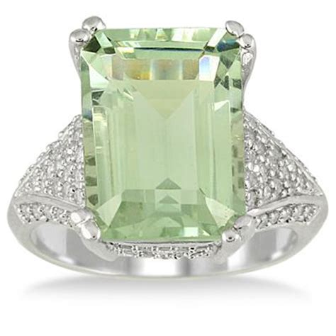 7 20 carat emerald cut green amethyst and ring in