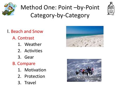 point by point pattern of organization patterns of organization compare and contrast