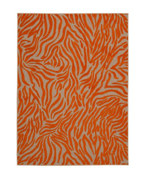 Zebra Print Outdoor Rug Noursion Aloha Orange Zebra Print Indoor Outdoor Rug Stage Stores