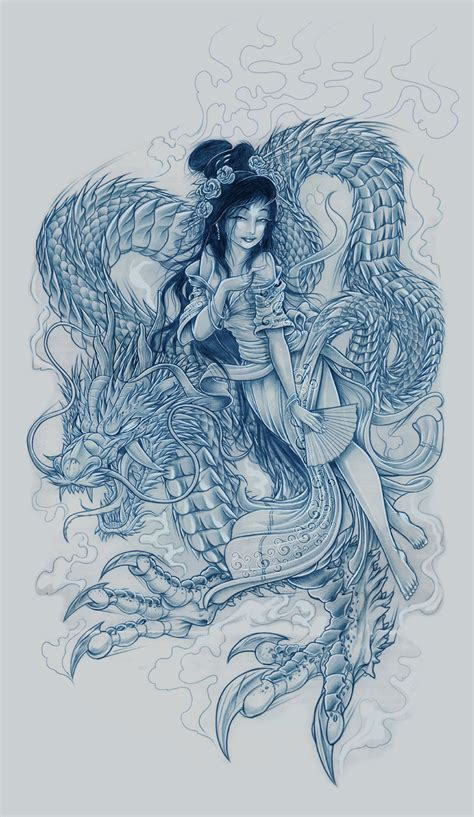 tattoo geisha dragon geisha dragon by brown73 on deviantart