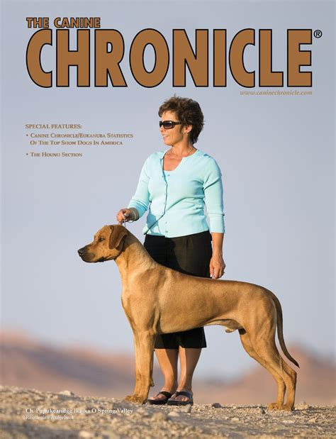 canine chronicle articles on our dogs