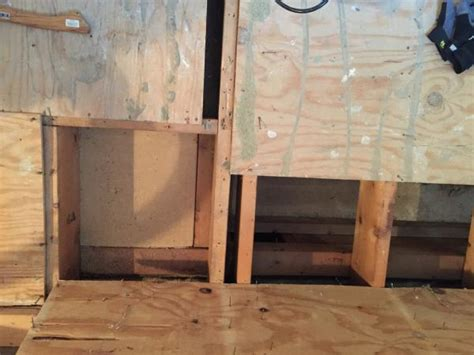 question about subfloor repair replacement thickness for