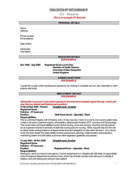 Registered Resume Objective Statement Nursing Resume Objective Statement Exles Bongdaao