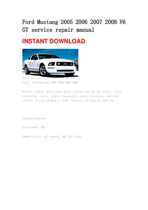 1995 ford mustang owners manual pdf 2006 ford mustang owners manual pdf 2006 ford mustang