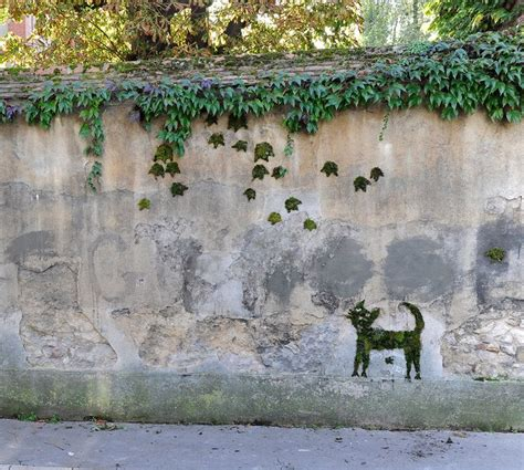 moos graffiti the jean cocteau s cat moss graffiti green guerilla